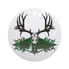 Bow hunter,deer skull Ornament (Round)