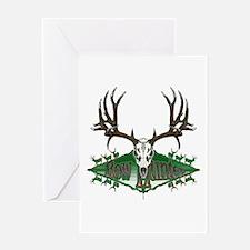 Bow hunter,deer skull Greeting Card