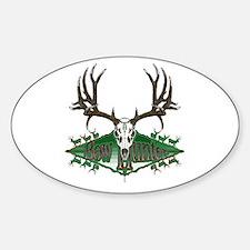 Bow hunter,deer skull Sticker (Oval)