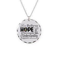 Love Believe Hope Autism Necklace