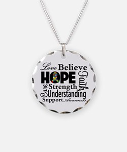 Love Believe Hope Autism Necklace