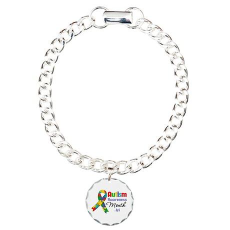 Autism Awareness Month Charm Bracelet, One Charm