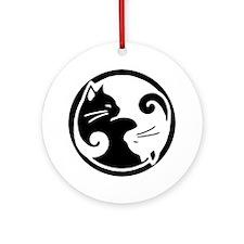 Yin Yang Cats Ornament