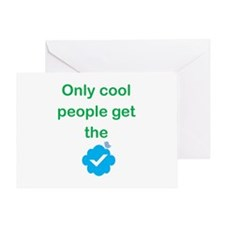 Only Cool Ppl Get the Checkmark Greeting Card