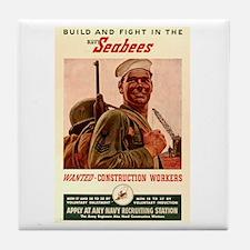 World War 2 Seabees Tile Coaster