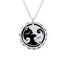 Yin Yang Cats Necklace