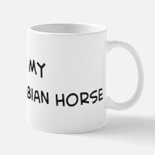 I Love Shagya Arabian Horse Mug
