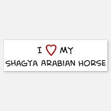 I Love Shagya Arabian Horse Bumper Bumper Bumper Sticker