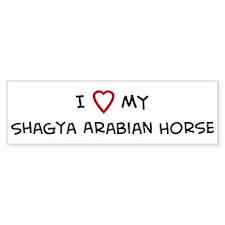 I Love Shagya Arabian Horse Bumper Bumper Sticker