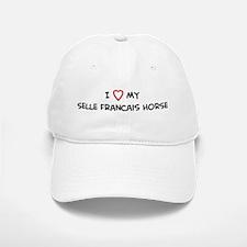 I Love Selle Francais Horse Baseball Baseball Cap