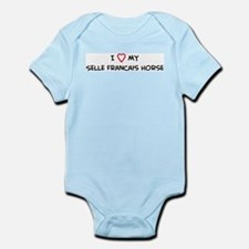 I Love Selle Francais Horse Infant Creeper