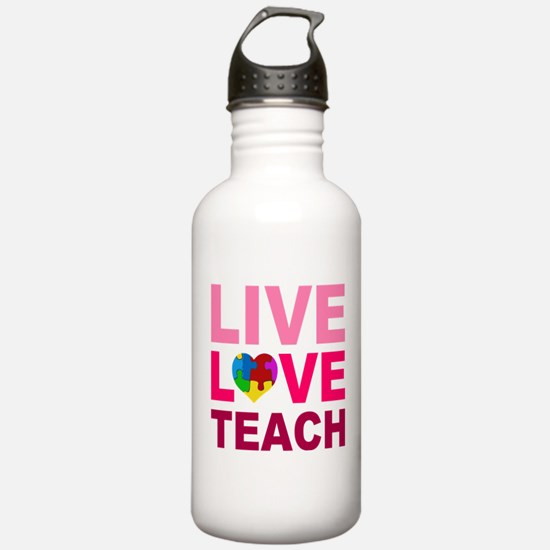 Live Love Teach Autism Water Bottle