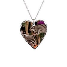 2 Gliders in Tree #2 Necklace Heart Charm