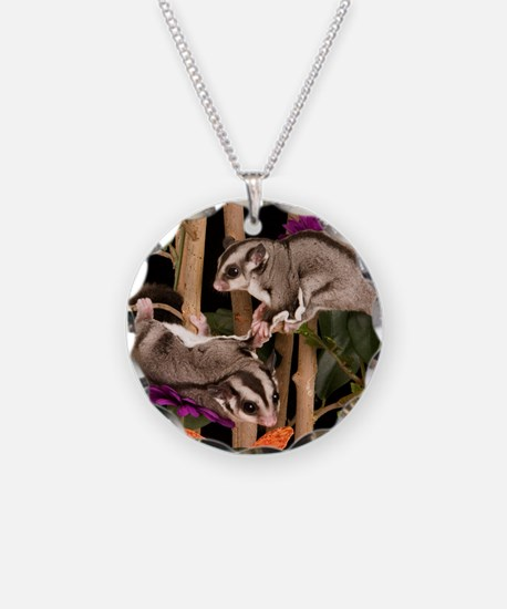2 Gliders in Tree #2 Necklace Circle Charm