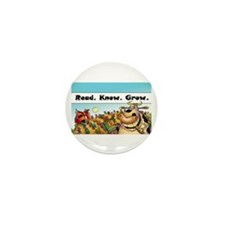 "Read.Know.Grow. 3.5"" Button (100 pack)"