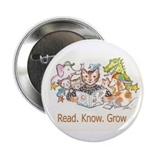"""Read.Know.Grow. 2.25"""" Button (100 Pack)"""