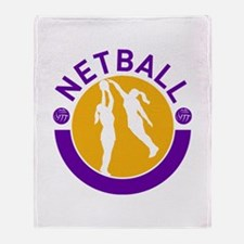 netball player shooting Throw Blanket