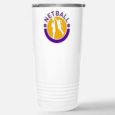 netball player shooting Stainless Steel Travel Mug