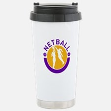 netball player shooting Travel Mug