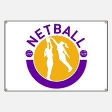 netball player shooting Banner