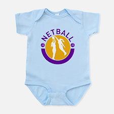 netball player shooting Infant Bodysuit