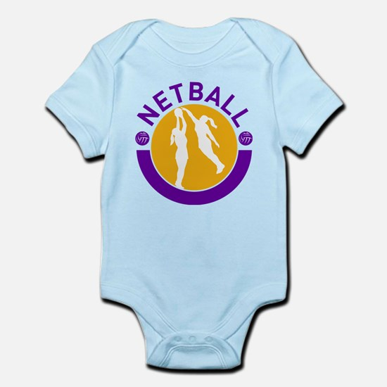 netball player shooting Infant Bodysuit