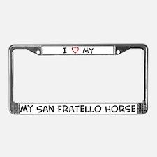 I Love San Fratello Horse License Plate Frame
