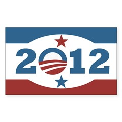 Obama 2012 Stars and Stripes Decal