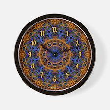 Gold & Blue Fine Art Wall Clock