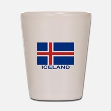 Icelandic Flag (labeled) Shot Glass