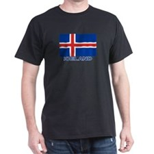 Icelandic Flag (labeled) T-Shirt