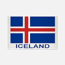 Icelandic Flag (labeled) Rectangle Magnet