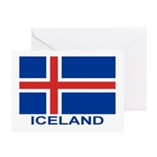 Icelandic Flag (labeled) Greeting Cards (Pk of 20)