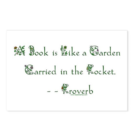 A Book is Like a Garden Postcards (Packa