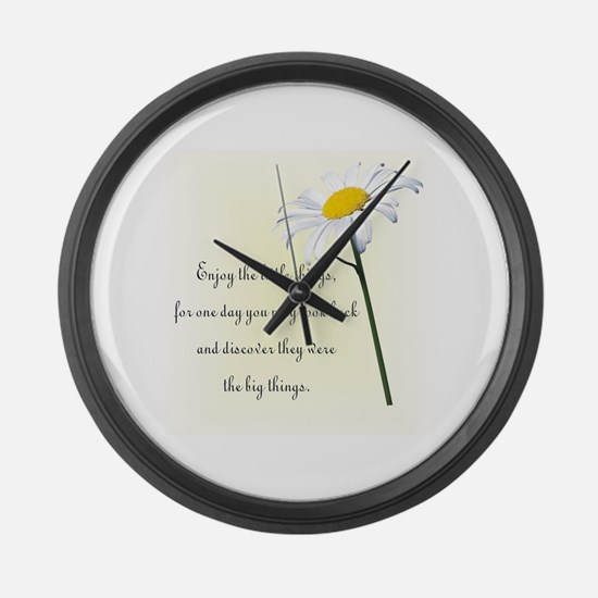 Funny Encouragement Large Wall Clock