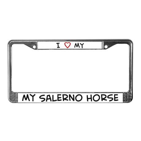 I Love Salerno Horse License Plate Frame