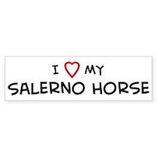 I Love Salerno Horse Bumper Bumper Sticker
