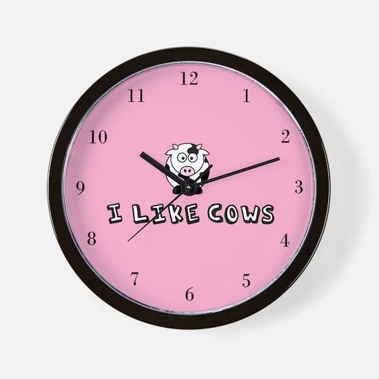 I Like Cows Wall Clock