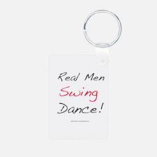 Real Men Swing Dance Aluminum Photo Keychain
