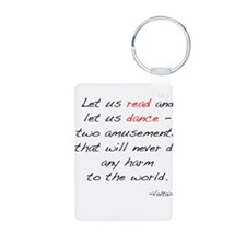 Voltaire On Dance Aluminum Photo Keychain