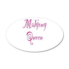 Mahjong Queen 38.5 x 24.5 Oval Wall Peel
