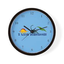 I Like Dinosaurs Wall Clock