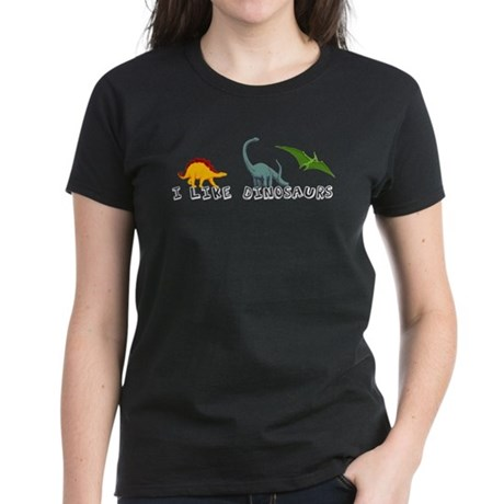I Like Dinosaurs Women's Dark T-Shirt