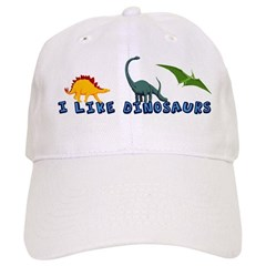 I Like Dinosaurs Baseball Cap