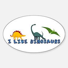 I Like Dinosaurs Decal