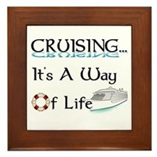 Cruising... A Way of Life Framed Tile