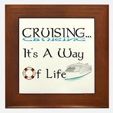 Cruising... A Way of Life Framed Tile
