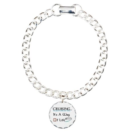 Cruising... A Way of Life Charm Bracelet, One Char