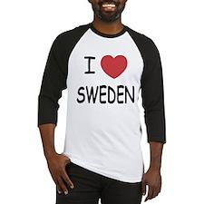 I heart Sweden Baseball Jersey