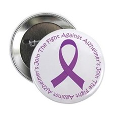 """Fight Against Alzheimers 2.25"""" Button"""
